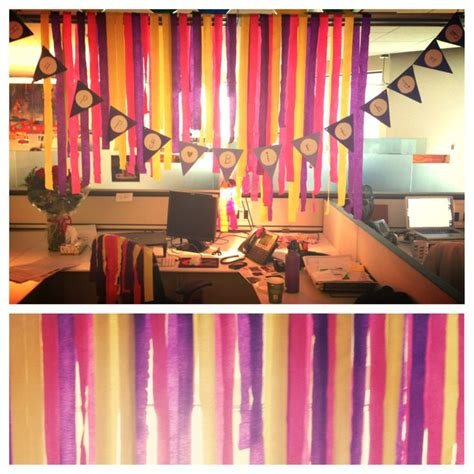 day office decorations creative cubicle birthday decoration ideas studio