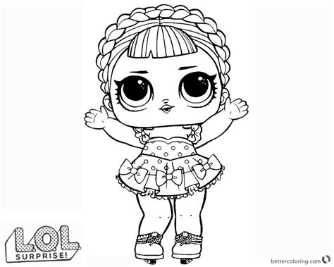 lol surprise doll coloring pages ice sker