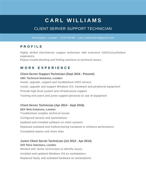 free cv templates exles and tips career uk