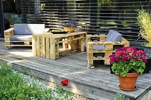 Salon De Jardin Terrasse : diy bricolage salon de jardin en palette bois fauteuls table basse terrasse bois fabriquer ~ Teatrodelosmanantiales.com Idées de Décoration