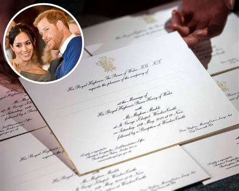 meghan markle  prince harrys wedding invitation