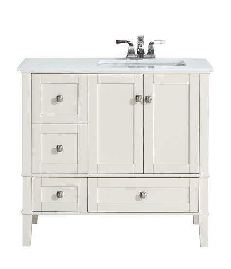 Bathroom Vanity Top With Sink On Left Side Creative Design 36 White Bathroom Vanity Vanities Right