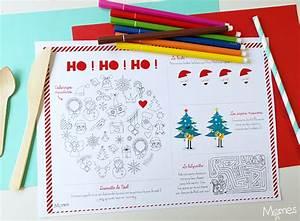 Set De Table De Nol Imprimer Et Colorier