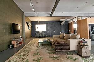 Home Accessories: Great Industrial Living Room With