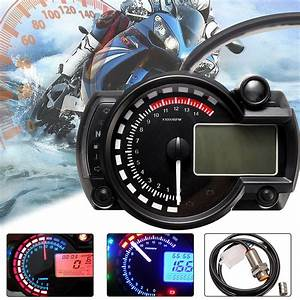 15000rpm Motorcycle Universal Lcd Digital Speedometer