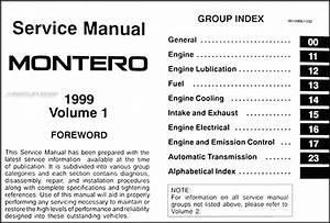 1999 Mitsubishi Montero Repair Shop Manual Set Original