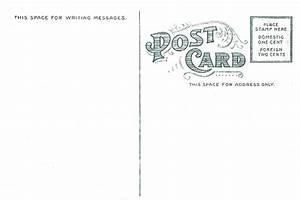 7 best images of vintage postcard template vintage With backside of postcard template
