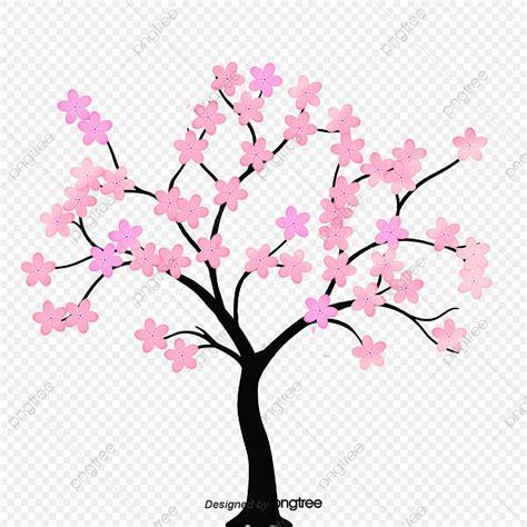 foto de Galhos De Cerejeira Desenho Animado Vermelho Flores PNG