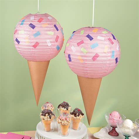 ice cream party lantern decor idea summer fun ice