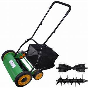 14 U0026quot  Walk Behind Reel Push Lawn Mower Cultivator Rotary