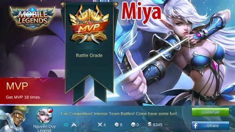 Mobile Legends Mvp Miya Ranked Game