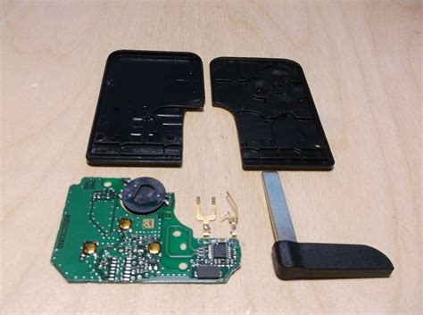 Renault Megane 2, Scenic Key Card (repair Kit) No Chip
