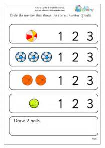 Elkonin Boxes Worksheets Count Up To 3 Objects Balls Early Counting Maths Worksheets For Early Reception Age 4 5