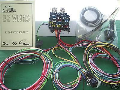 Ez Rod Wiring Harnes Kit by Ez Wiring 12 Circuit Standard Panel Wiring Harness Ebay