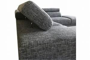 Canapé Angle Gris Chiné : canap d 39 angle gauche gris chin en tissu bartolo canap d 39 angle pas cher ~ Teatrodelosmanantiales.com Idées de Décoration