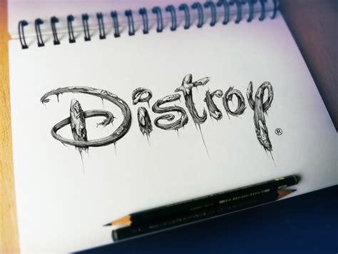 distroy creepy pencil drawings  famous cartoon