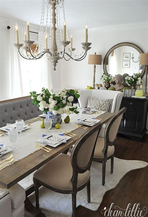 french country dining space decor ideas shelterness