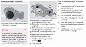 How Do I Change The Headlamp Bulb On A Mercedes E Class  2006
