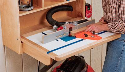 building  wall mounted router table router table