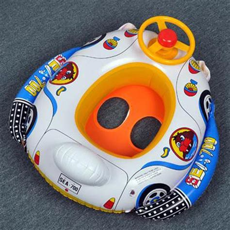 Kid Boat Horn by Baby Pool Seat Float Boat Swimming Wheel