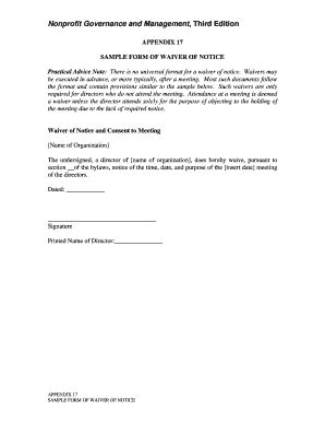 sample waiver form templates fillable printable