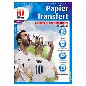 Papier Transfert Tee Shirt : papier transfert pour t shirts et textiles clairs ~ Melissatoandfro.com Idées de Décoration