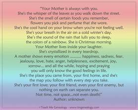 your is always with you poem teach me genealogy