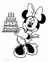 Minnie Mouse Coloring Pages Birthday Printable Cool2bkids sketch template