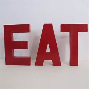 Eat free standing letters kitchen decor red letters for Eat letters for kitchen