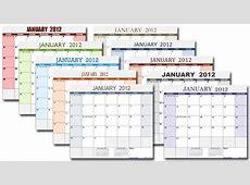 Excel Monthly Calendar Template calendar month printable