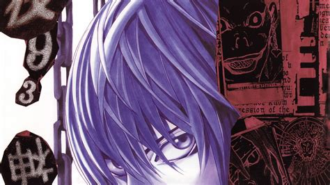 Light Yagami With Light Purple Hair Death Note Hd Anime