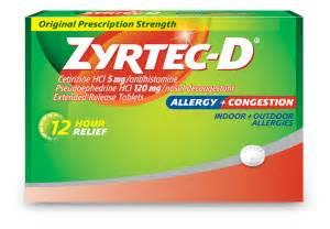 ZYRTEC-D® Allergy Treatment & Decongestant - ZYRTEC®  Cetirizine Allergy
