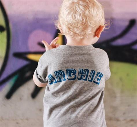 Personalised Kids Name Back T Shirt By Marloweville ...