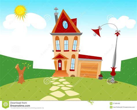 Tiny Cartoon House Stock Vector. Illustration Of Scene