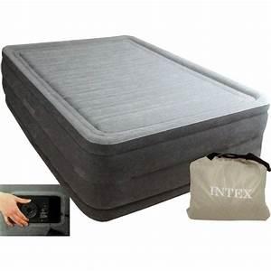 Matelas Intex 2 Personnes : lit gonflable intex comfort plush high fiber tech 2 places ~ Melissatoandfro.com Idées de Décoration