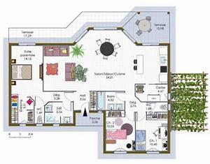maison a ossature bois 1 detail du plan de maison a With marvelous plan maison en l 100m2 2 maison plain pied en ossture bois ecologique