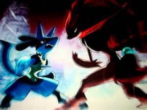 Pokemon Mewtwo vs Lucario and Zoroark