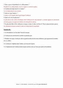 De La F U00e9condation  U00e0 La Naissance  U2013 4 U00e8me  U2013 Exercices