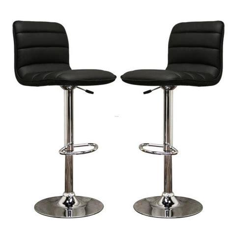 lyris black faux leather modern bar stools set of 2