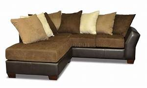 Scatter back modern sectional sofa w oversized back pillows for Sectional couch with pillows