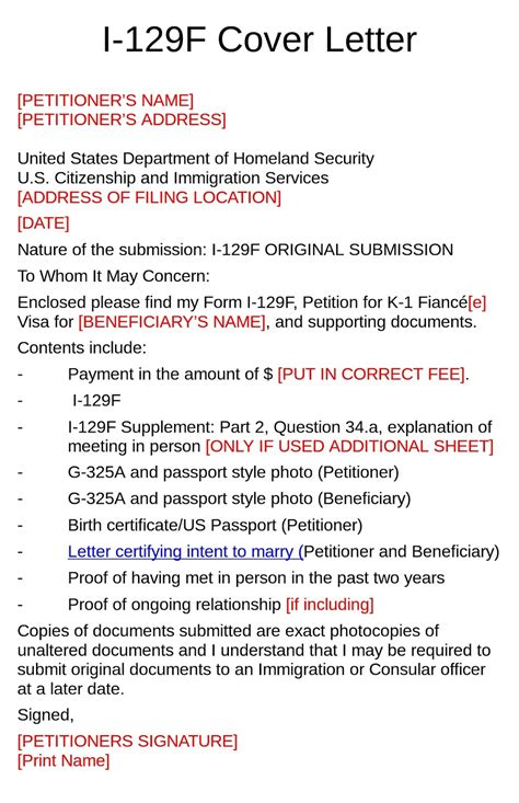 fiance visa cover letter exle cover letter for i 129f 28 images cover letter for i