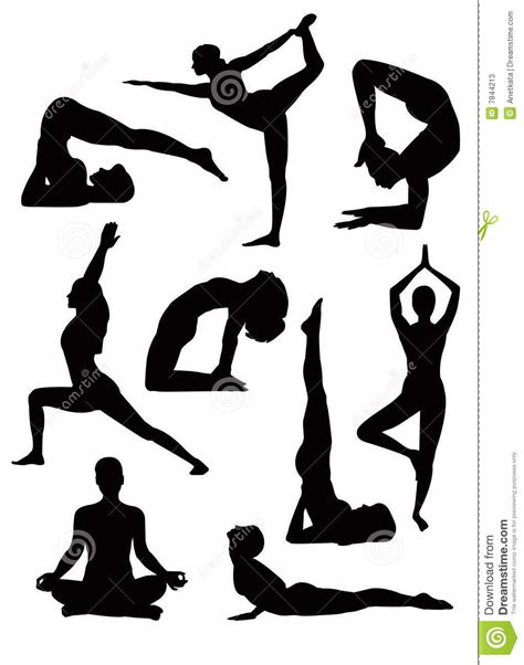 Free vector icons in svg, psd, png, eps and icon font. Yoga silhouettes - vector stock vector. Illustration of ...