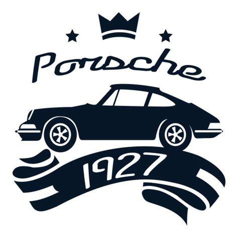 porsche logo transparent porsche vintage label transparent png svg vector