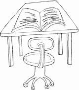 Desk Coloring Drawing Pages Template Getdrawings Education Chair Setup sketch template