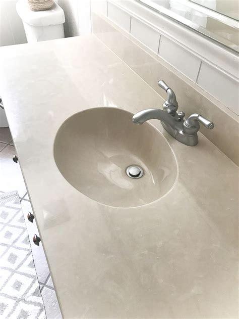 diy painted bathroom sink countertop counter top sink