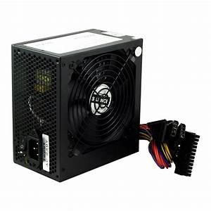Black 500w 12cm Silent Fan Pc Power Supply Atx Computer Psu 500 Watt Sata 24