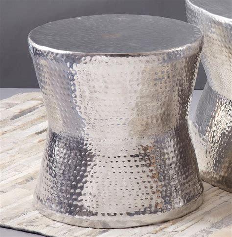 surabaya global bazaar hammered nickel round coffee table