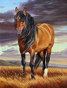 'Mustang Majesty' - horse painting by Nancy Davidson ...