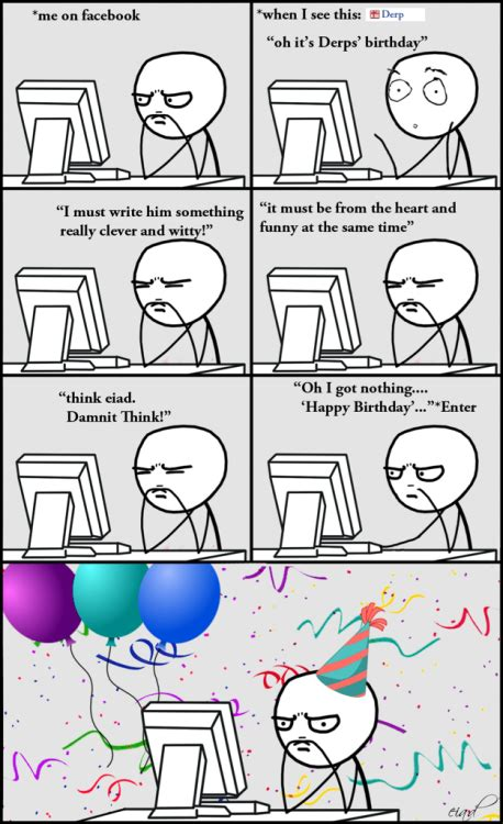 Funny Birthday Memes Tumblr - funny happy birthday comics rage comics aendlessroadtonowhere