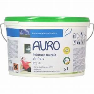 peinture murale naturelle air frais auro 328 pour un salon With peinture a base de chaux